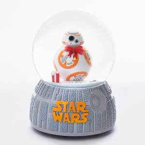 BB-8 musical holiday snow globe.  Star Wars
