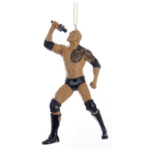 WWE The Rock with microphone ornament