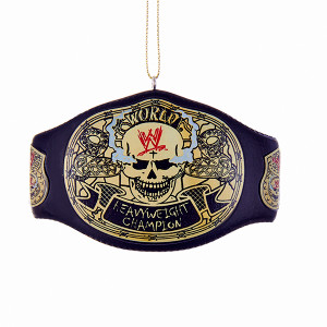 WWE Stone Cold Skull Championship Belt Ornament