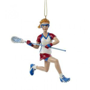 Lacrosse Girl Ornament