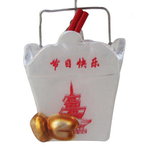 Chinese Food Container Glass Ornament