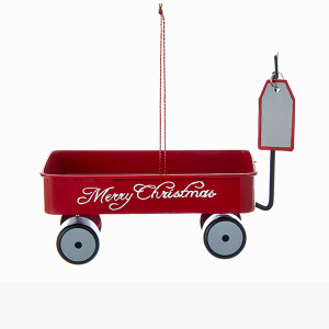 Merry Christmas Wagon Ornament