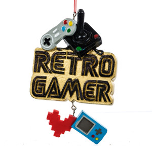 Retro Gamer Ornament