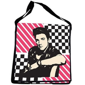 Elvis Recycled Messenger Tote - front