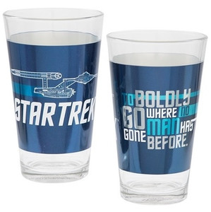 Star Trek 16 oz Laser Decal Glass Set