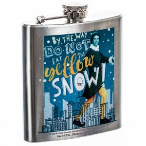 Elf Movie Do Not Eat Yellow Snow Flask