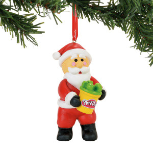 Santa with Playdoh Ornament