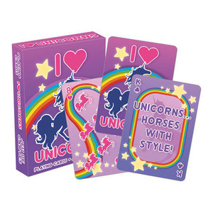 I Love Unicorns Playing Cards