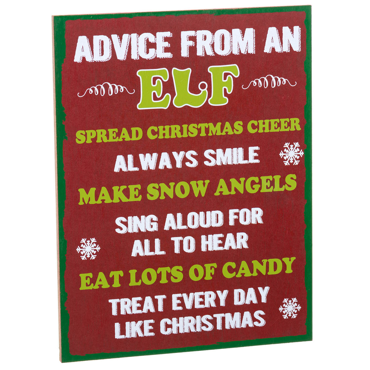 Christmas Signs Part - 16: Advice From An Elf Sign