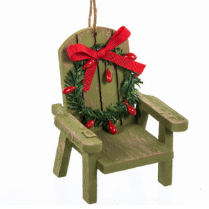 Muskoka Chair Ornament - green