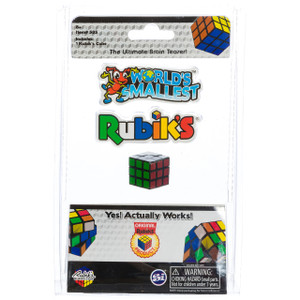 World's Smallest Rubiks Cube in Package