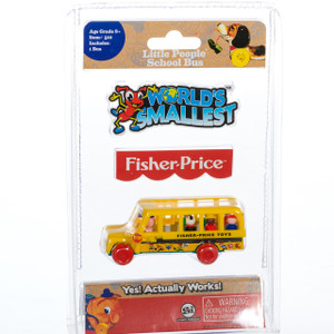 World's Smallest Fisher Price School Bus in Package