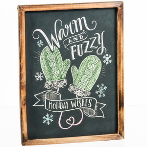 Warm and Fuzzy Chalk Board Sign