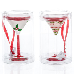 Christmas Martini Glass Ornament  both