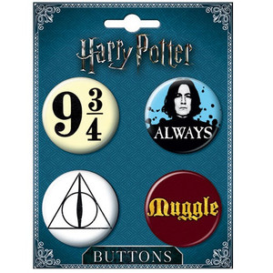 Harry Potter 4 Button Set