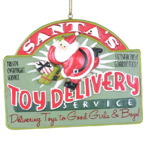 Santa's Toy Delivery Sign Ornament