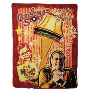Retro Leg Lamp Throw Blanket