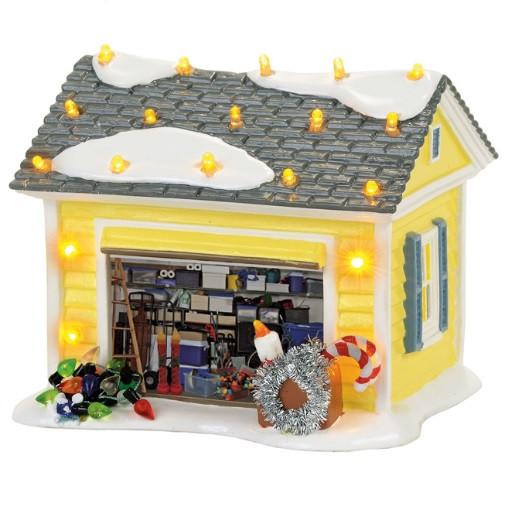 Griswold Holiday Garage Dept 56  back