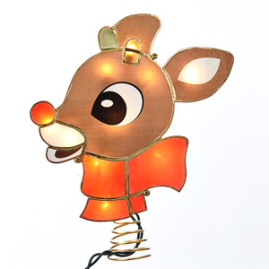 Rudolph Lighted Tree Topper