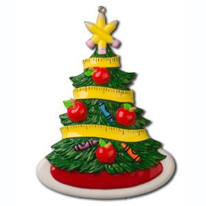 Teacher Christmas Tree Person Orn