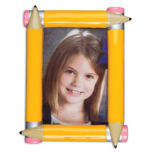 Pencil Photo Frame Personalized Ornament