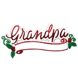 New Grandpa Personalized Ornament