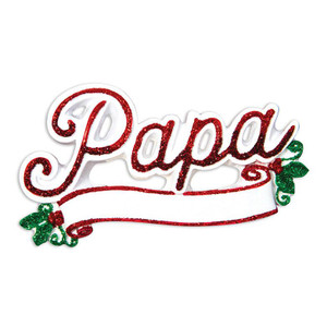 New Papa Personalized Ornament