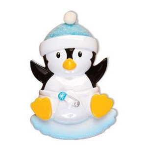 Baby Boy Penguin Personalized Ornament
