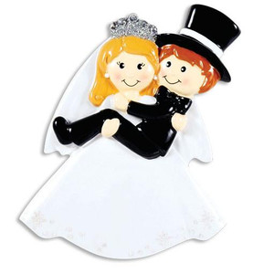 Bride Carrying Groom Personalized Ornament
