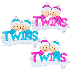 Twins Personalized Ornament all