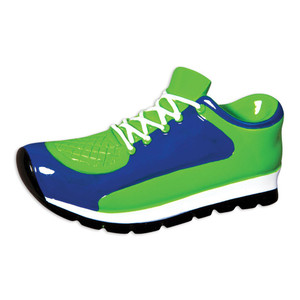 Sneaker Personalized Ornament - blue & green