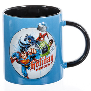 DC Comic Justice League 12 oz Ceramic Embossed Mug