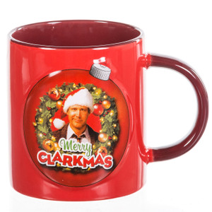 Merry Clarkmas 12 oz Ceramic Embossed Mug