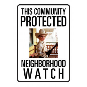 Protected by Ralphie Tin Sign
