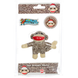 World's Smallest Sock Monkey package