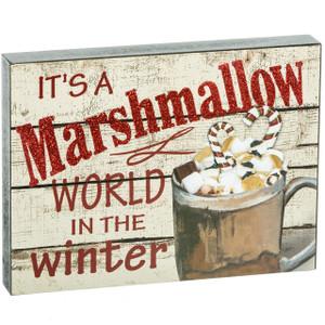 Marshmallow World Art Block