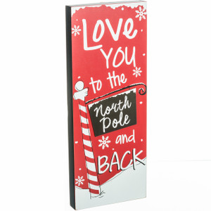 Love You to the North Pole and Back Art Block