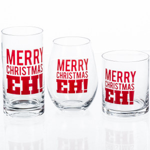 Merry Christmas, Eh? Glassware