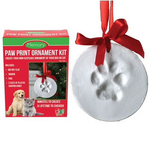 Paw Print Ornament Kit package
