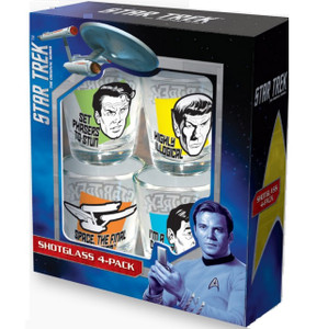 Star Trek Quotes Shot Glasses
