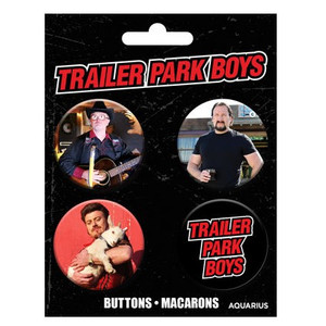 Trailer Park Boys Buttons Set of Four