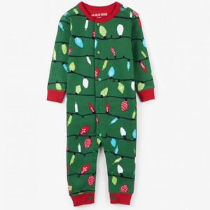 Northern Lights Baby Christmas Onesie Front