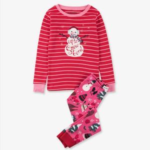 Vintage Holiday Kids Christmas Pajamas Pink