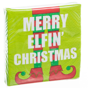 Merry Elfin' Christmas Cocktail Napkins