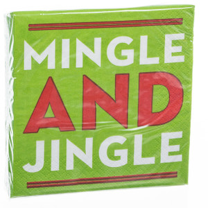 Mingle and Jingle Cocktail Napkins