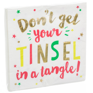 Don't Get Your Tinsel in a Tangle! Cocktail Napkins