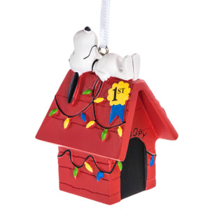 Peanuts' Snoopy on his Doghouse Ornament by Hallmark