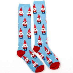 Santa Gnome Ladies' Knee Highs