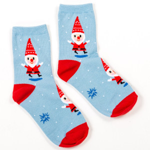 Santa Gnome Kids Socks - Junior