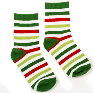 Christmas Stripes Kids' Socks